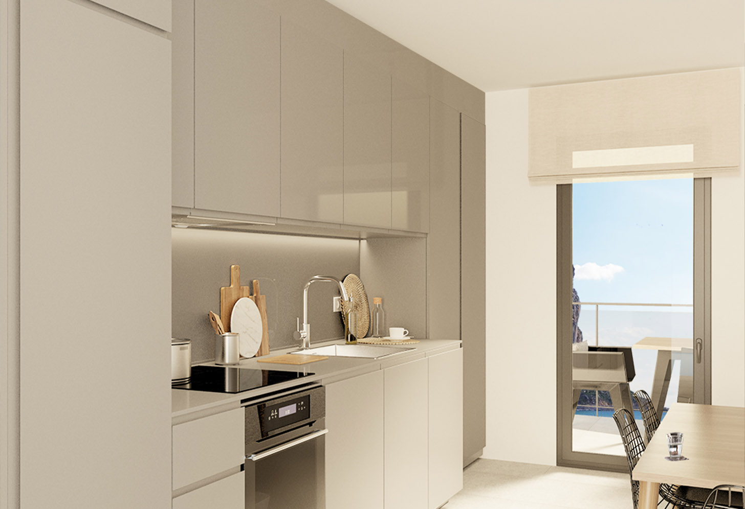 immobilier neuf espagne costa blanca nord on-h1 sunrise tower cuisine