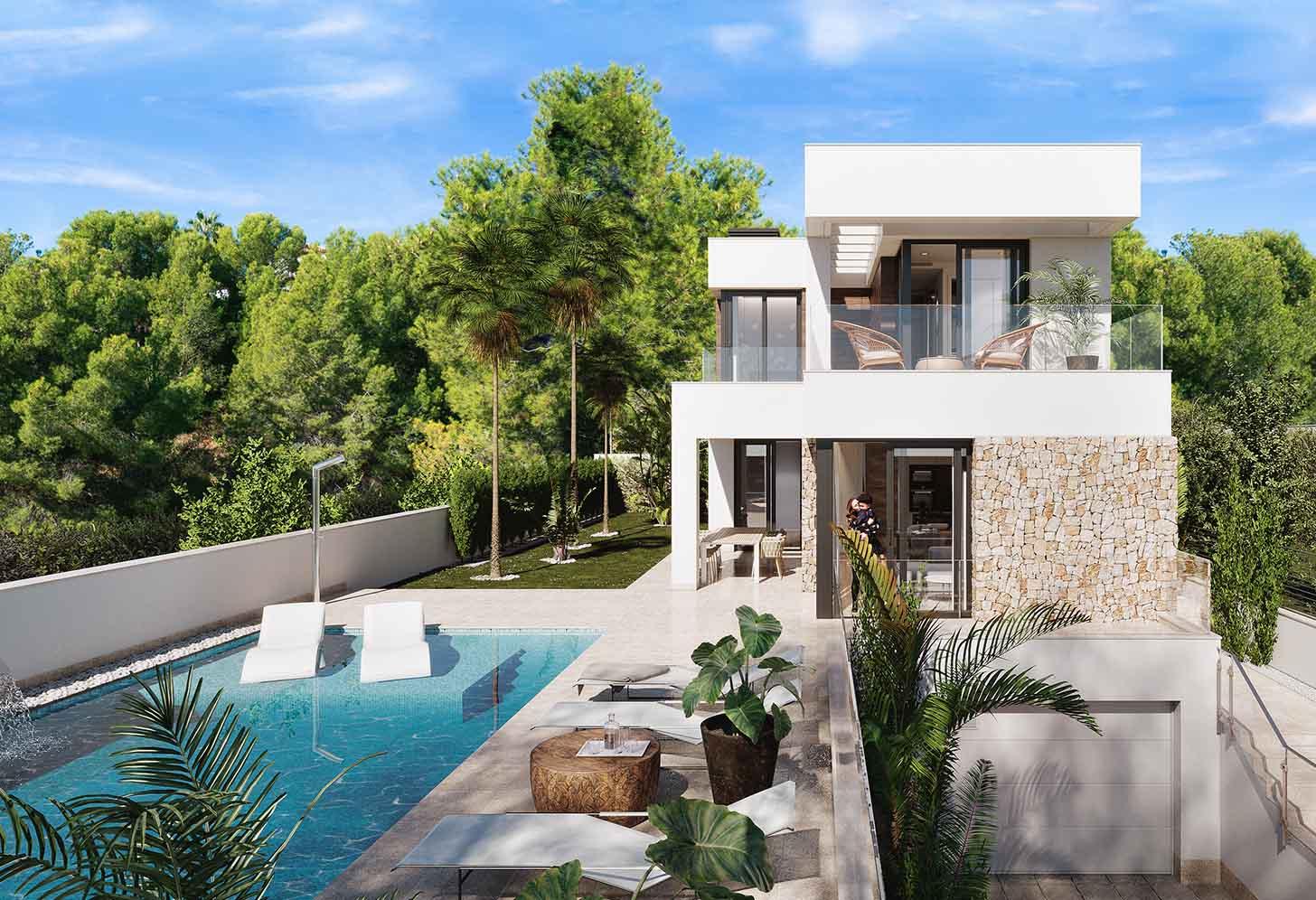 immobilier neuf espagne costa blanca nord finestrat villa piscine