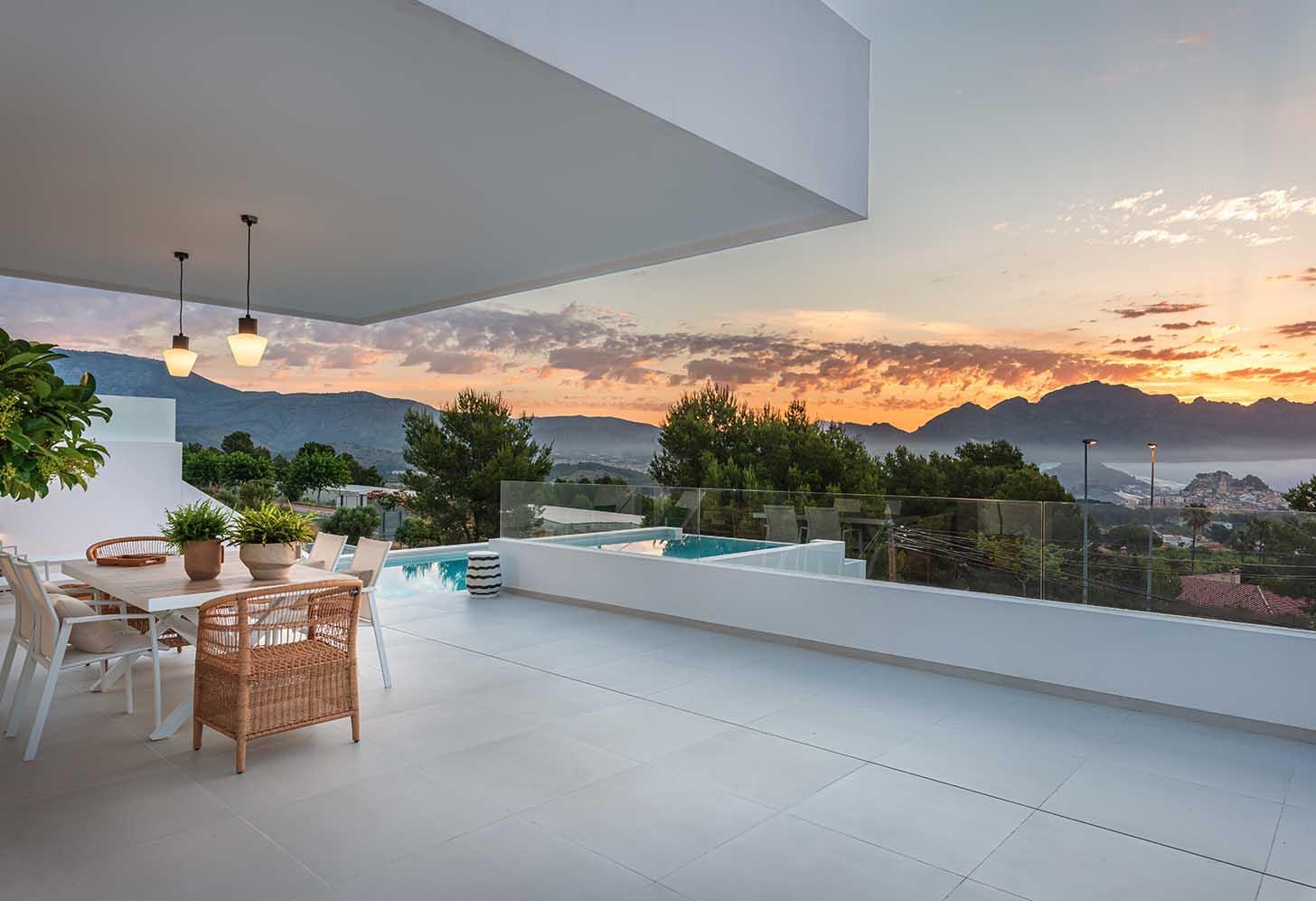 immobilier neuf espagne costa blanca alicante polop terrase piscine