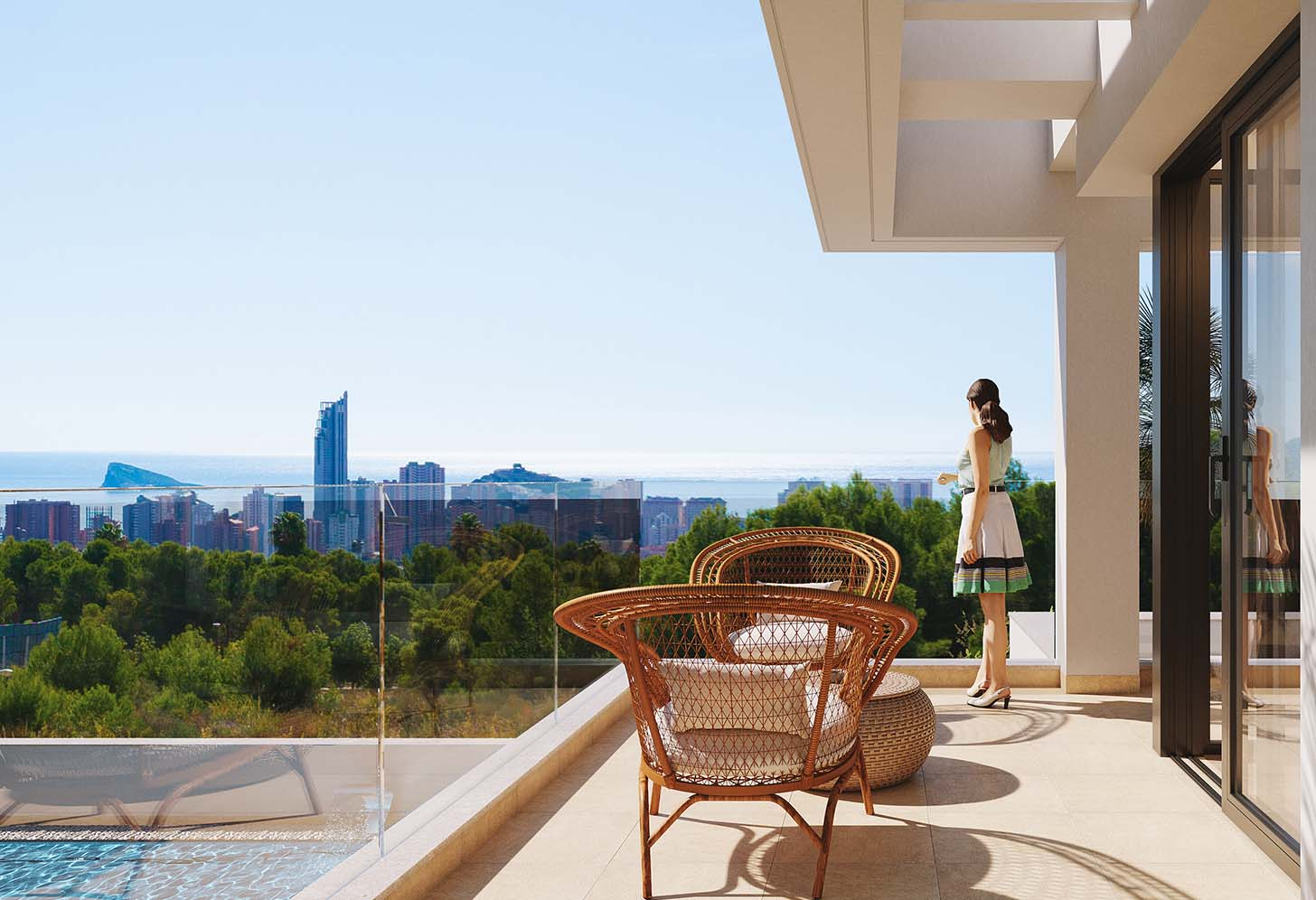 immobilier neuf espagne costa blanca nord finestrat terrase