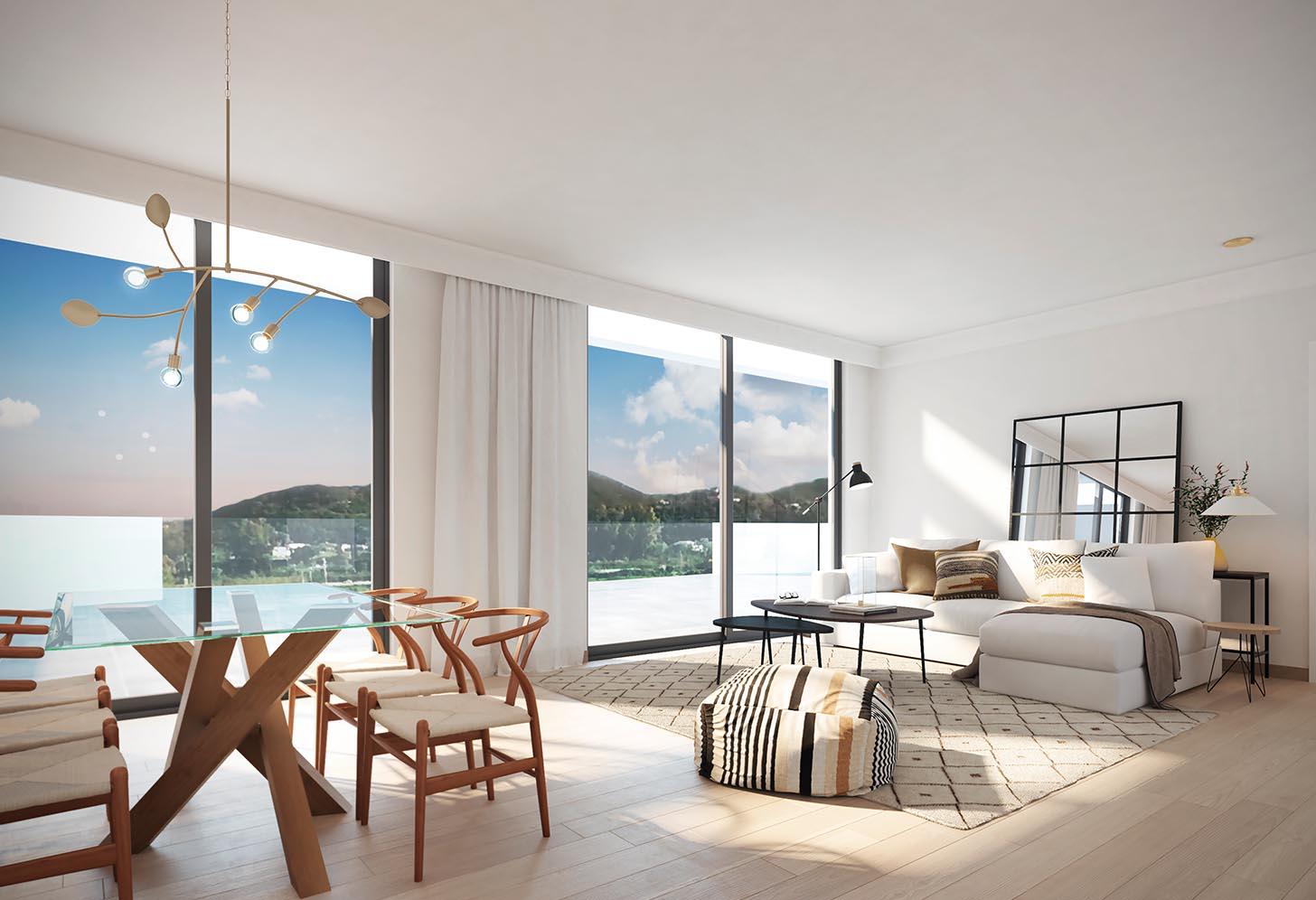 logement neuf costa del sol sur espagne salon