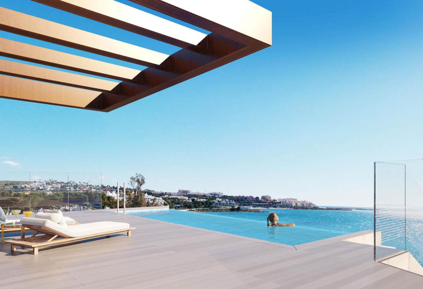 immobilier neuf espagne costa del sol on-e10 the sapphire piscine 2