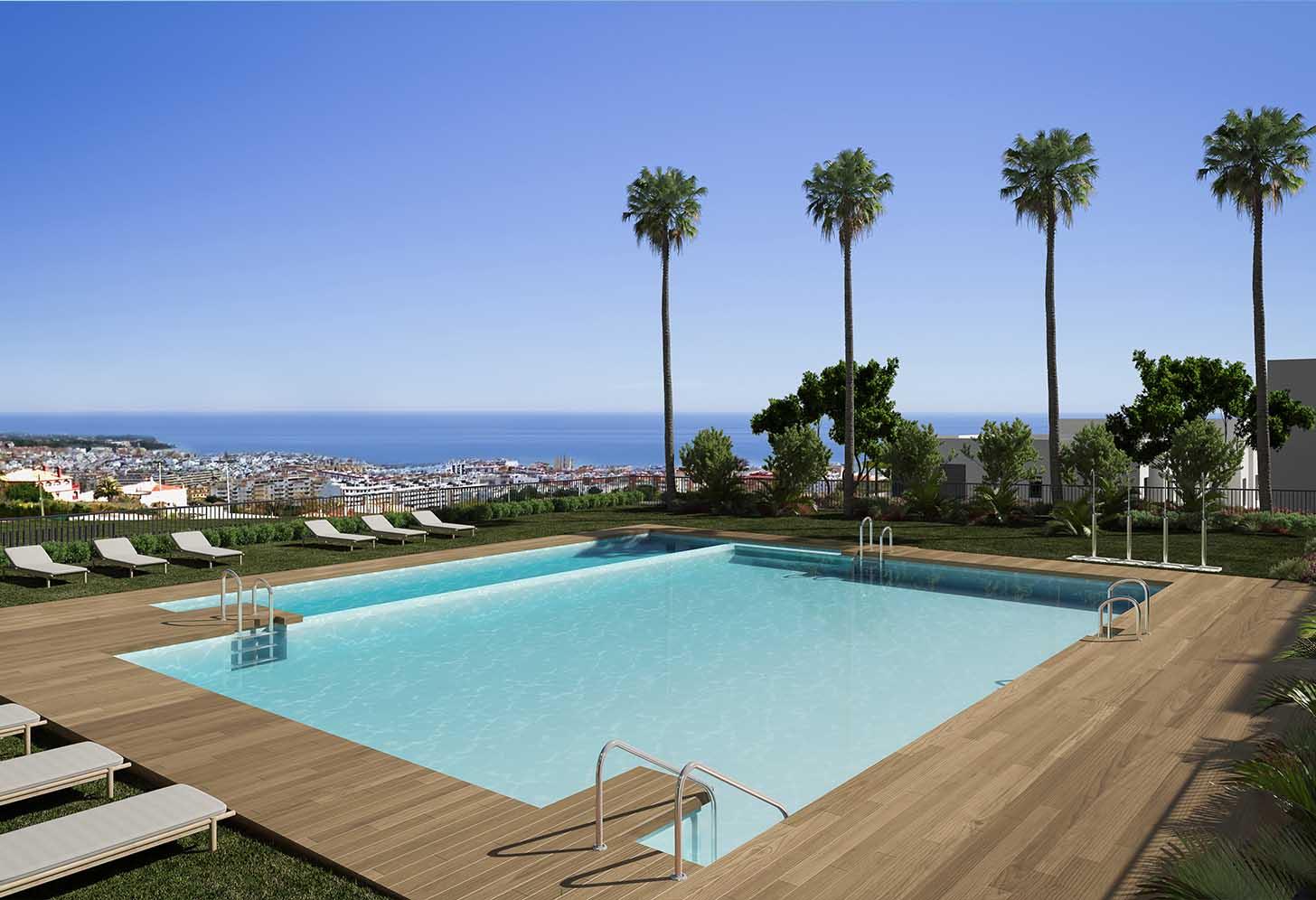 immobilier neuf espagne costa del sol on-e11 Mesas Homes piscine 2