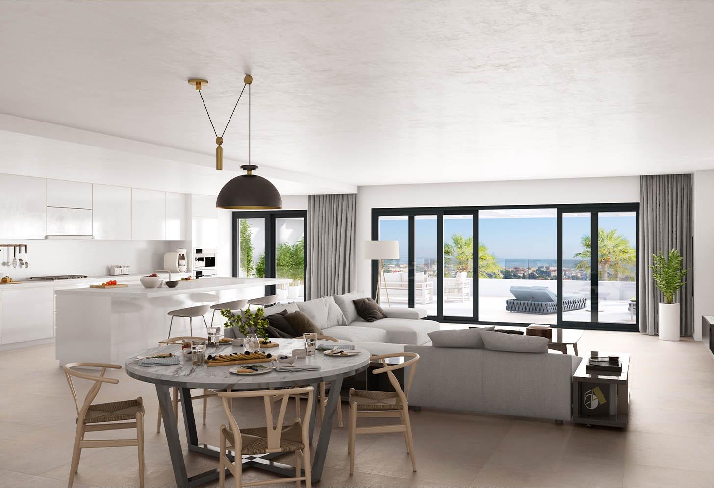 immobilier neuf espagne costa del sol on-e11 Mesas Homes salon