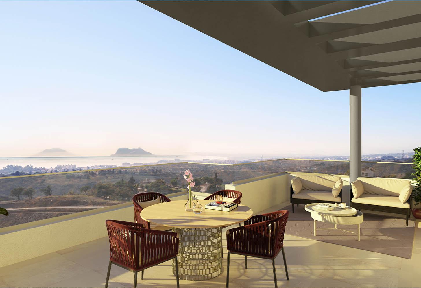 immobilier neuf espagne costa del sol on-e11 Mesas Homes terrasse