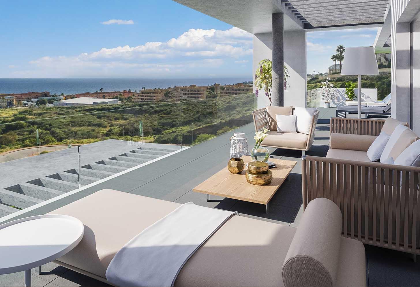 immobilier neuf espagne costa del sol on-e12 Navigolf terrasse
