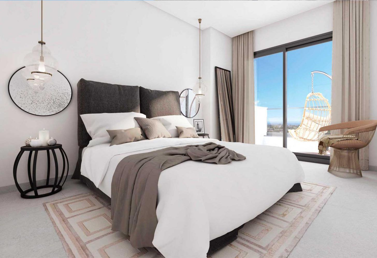 immobilier neuf espagne costa del sol on-e13 Alborada Homes chambre