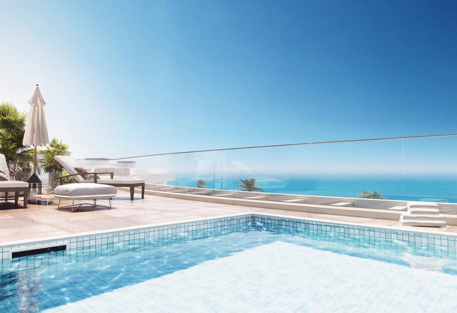 immobilier neuf espagne costa del sol on-e14 nereidas residential piscine 1