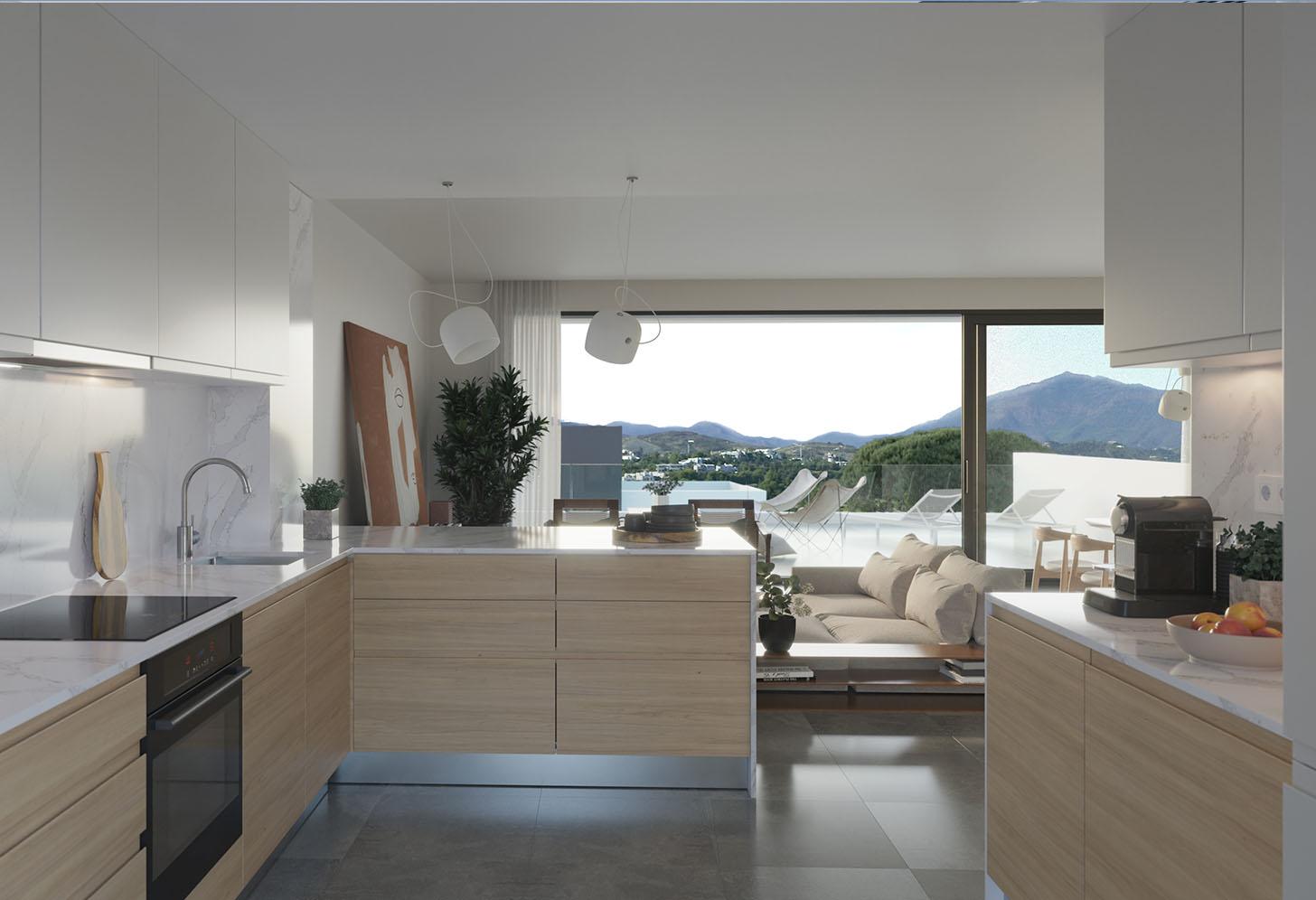 immobilier neuf espagne costa del sol on-e15 serene atalaya cuisine