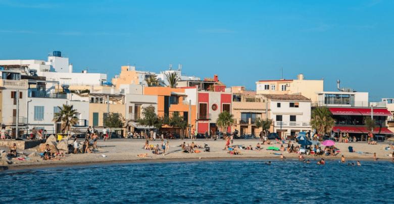Maison vue sur la plage à Palma de Majorque