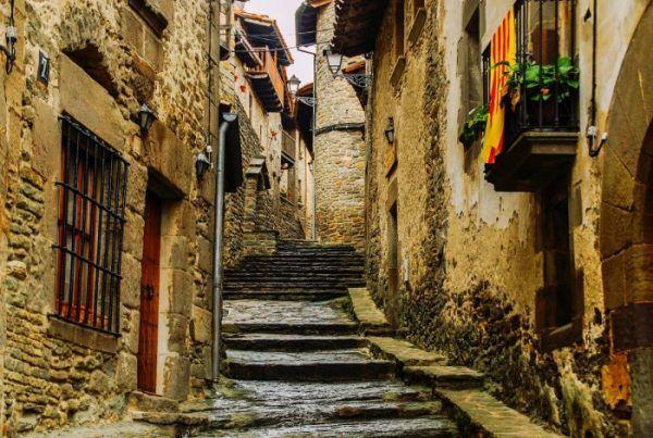Rue pavée espagnole