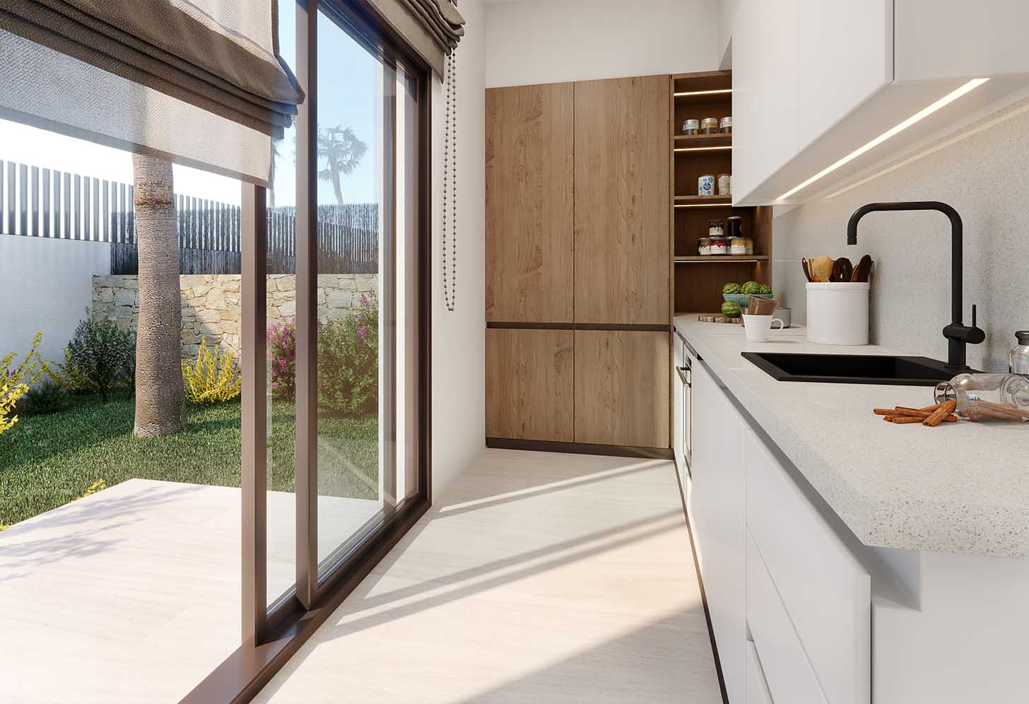 immobilier neuf espagne costa blanca on-o2 balcon finestrat cuisine