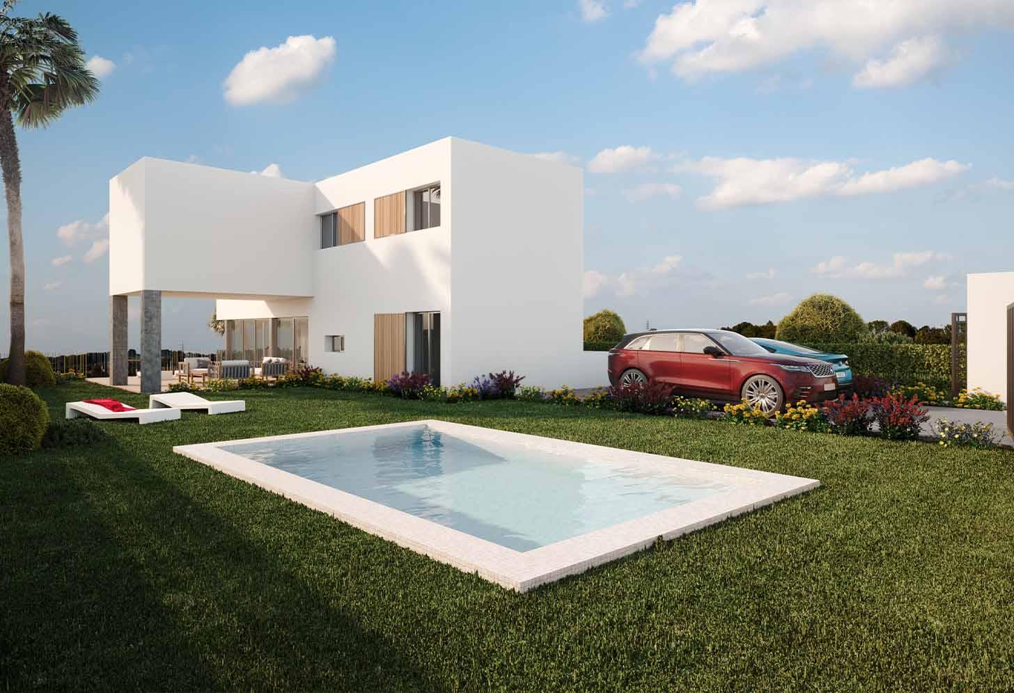 Piscine de la villa de luxe à Algorfa