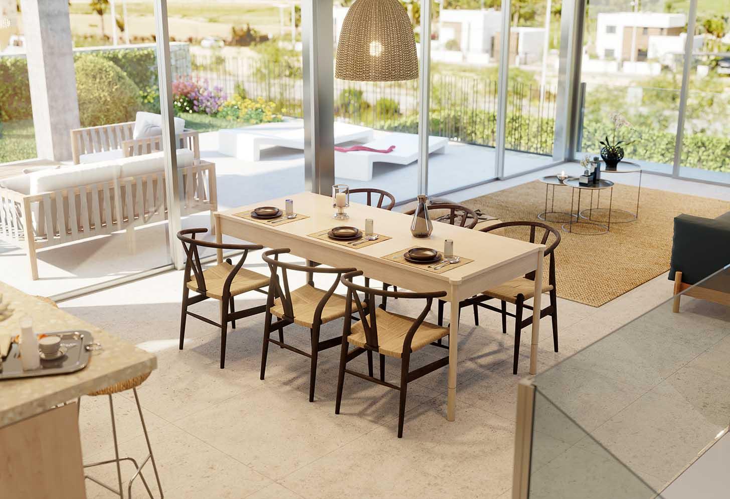 Salle à manger de la villa de luxe à Algorfa