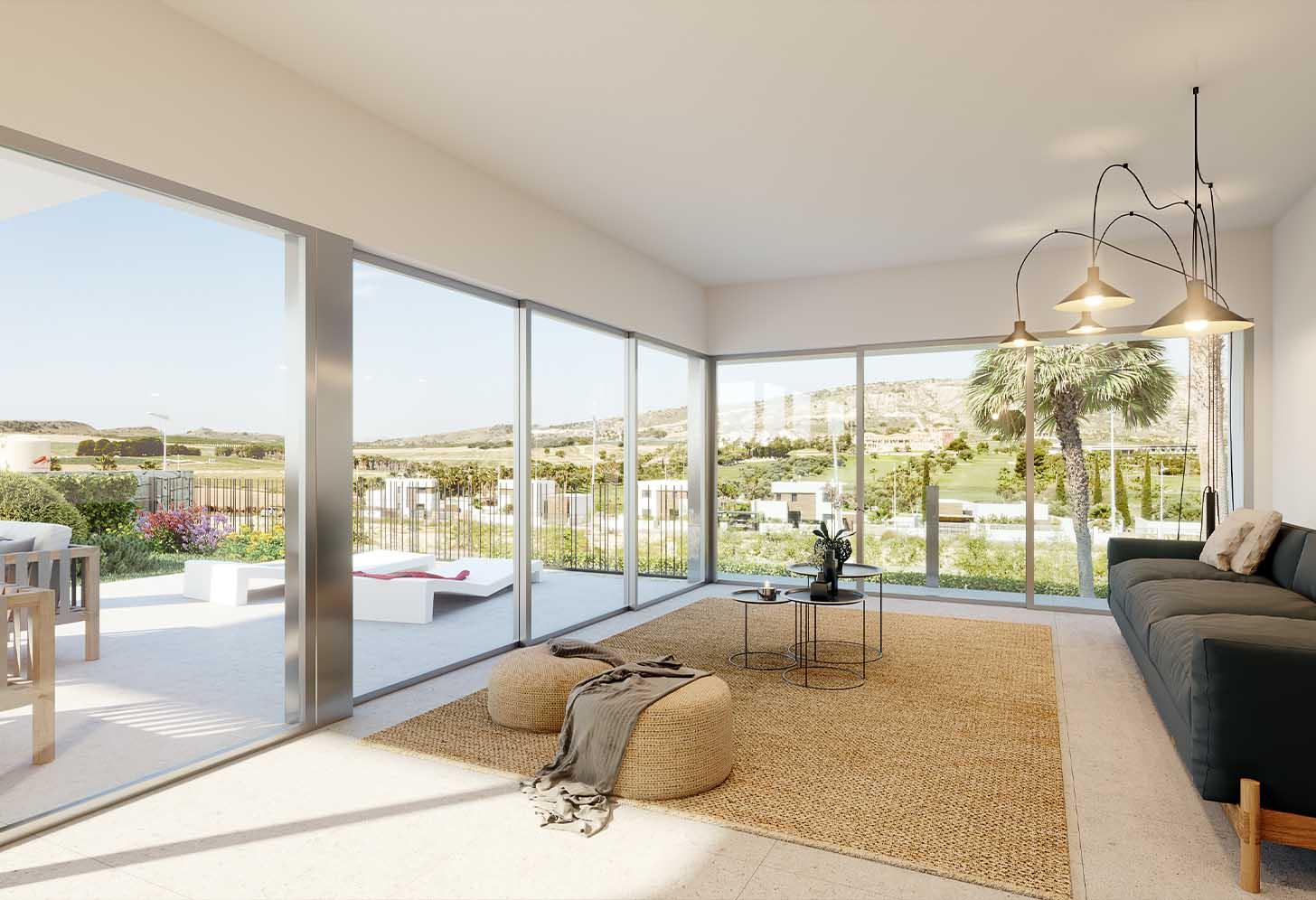 Salon de la villa de luxe à Algorfa