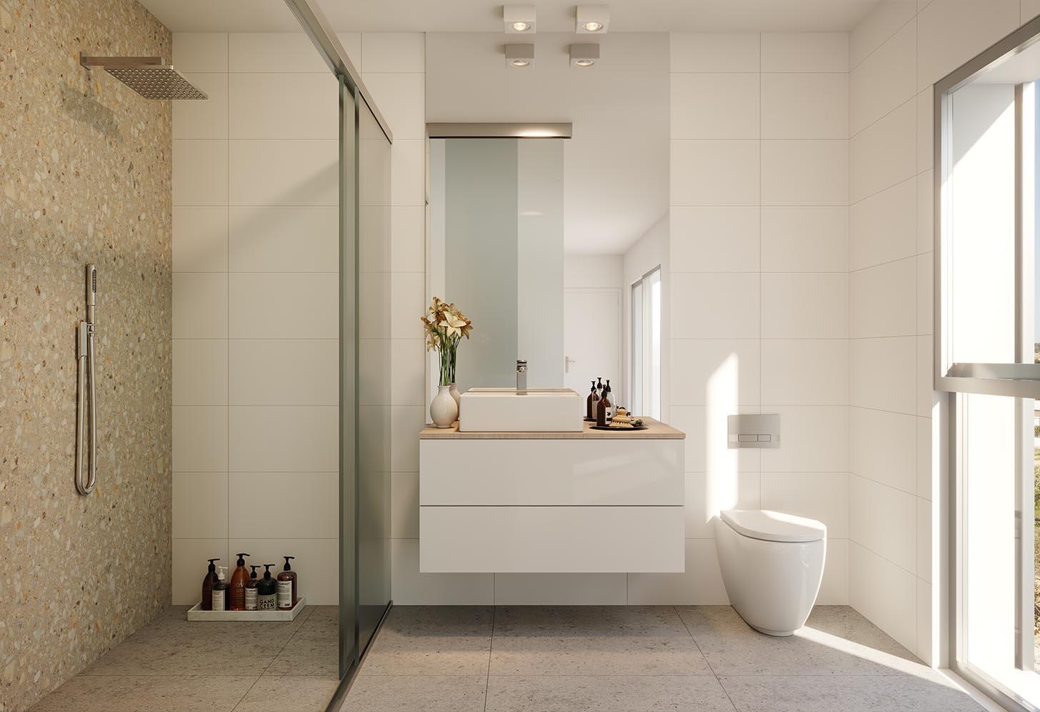 Salle de bain de la villa de luxe à Algorfa